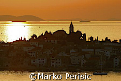Over looking the islands at sunset Primosten Croatia. by Marko Perisic 